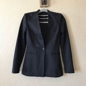Alice + Olivia Employed Black Slim Career Blazer